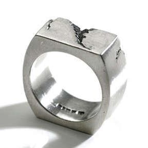 Platinum Construction Ring, handmade in London