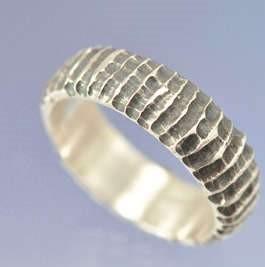 Sterling Silver Ripple Ring, handmade in Kent