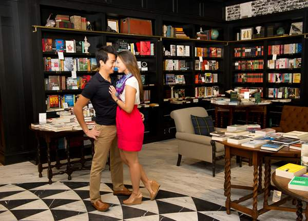Elizabeth and Darryl's Literary Tampa, FL Engagement Session by Andi Diamond Photography