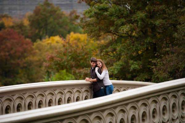 Hillary and Nick's Autumnal NYC Engagement Session by Tessa Marie Weddings