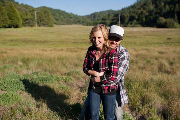 Kari and Ryan's Palomar Mountain, CA Campfire Engagement Session by Limelife Photography