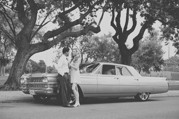 Vino and Connie's Sweetly Retro Engagement Session by Sposto Photography