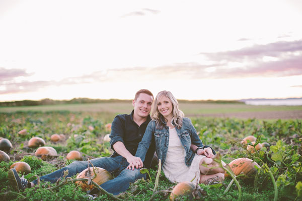 Brad and Amy's Pumpkin Patch Engagement Session by White Willow Photography