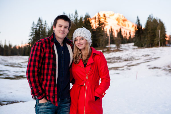 Matt and Alexis' Snowy Mt. Hood Engagement Session by Powers Photography Studios