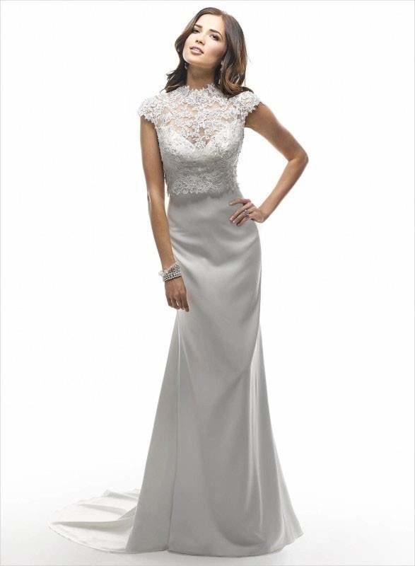 faux crop wedding dress