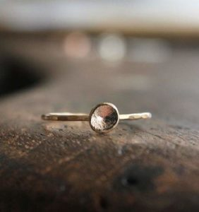 Organic Gold Pebble Ring