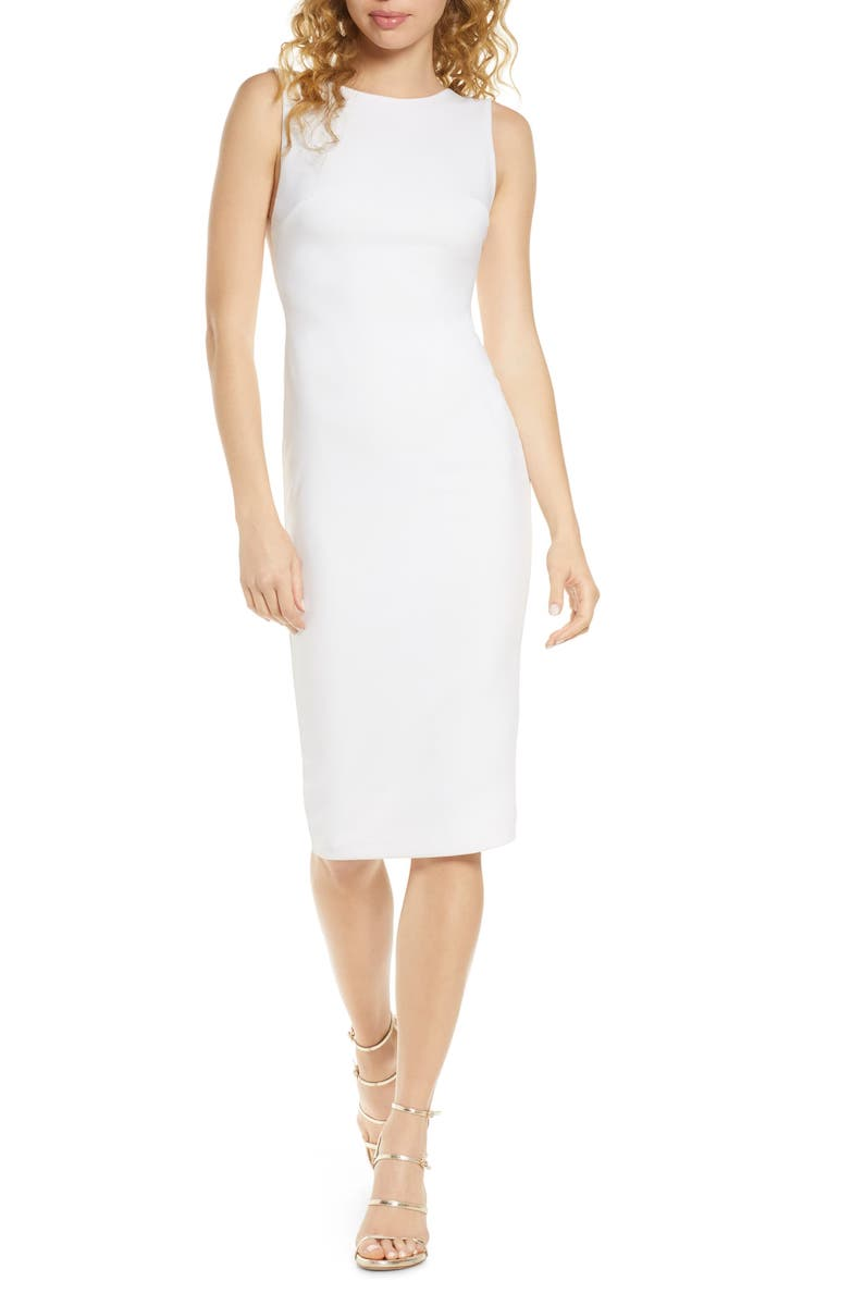 Lulus So Stunning Backless Sheath Dress