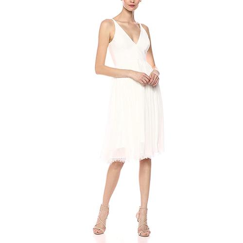 Alicia Mixed Media Midi Dress