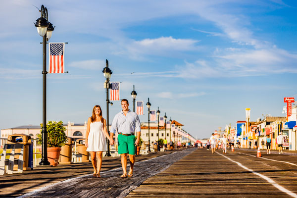 Jessica & Zachary's Ocean City, NJ Engagement Session by Bartlett Pair Photography