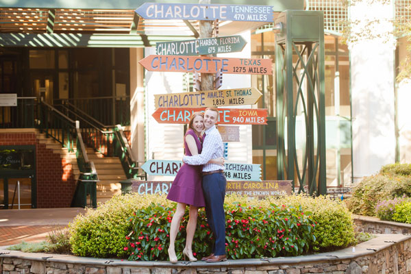 Victoria & Ben's Charming Charlotte, NC Engagement Session by Casey Hendrickson Photography