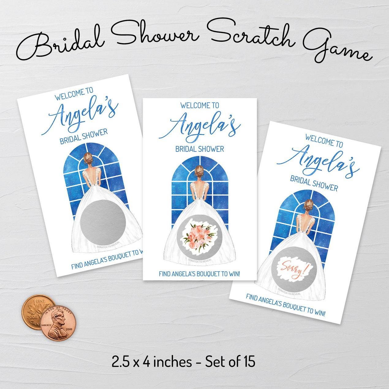 Bridal Shower Scratch Off Game