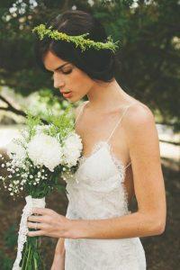 Boho Look with Bridal Crown