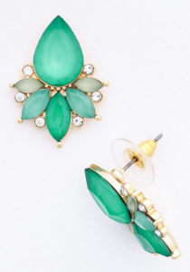 Green Statement Studs