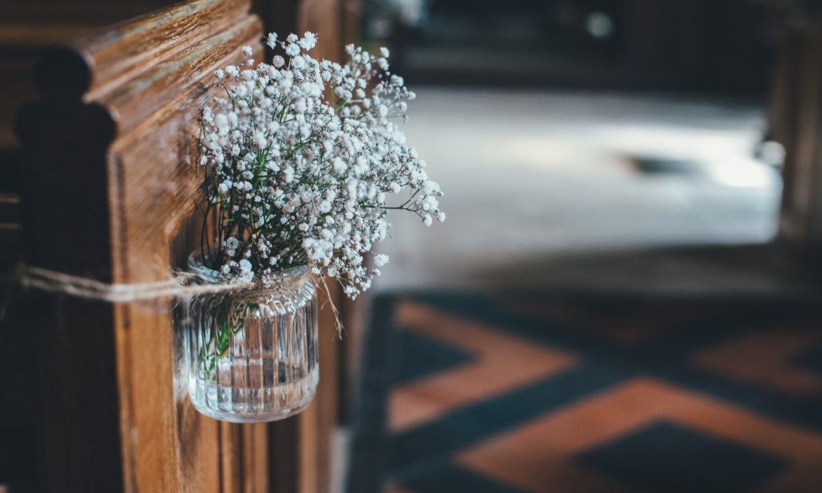 Simple Summer Wedding Aisle Decor