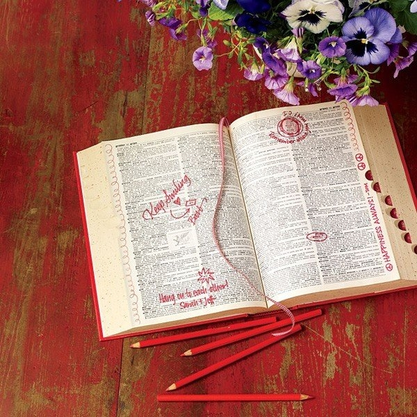 dictionary guestbook