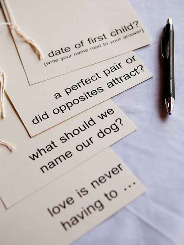 guided question guestbook