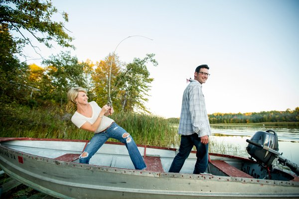 Char & Adam's Autumn in Minnesota Engagement Session by Jeannine Marie Photography