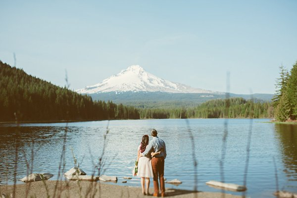 Monika & Dalton's Beautiful Mt. Hood, OR Engagement Session by Hazelwood Photo
