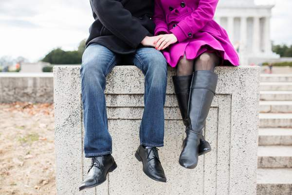 Stephanie & David's Autumn Washington D.C. Engagement Session by Lovesome Photography