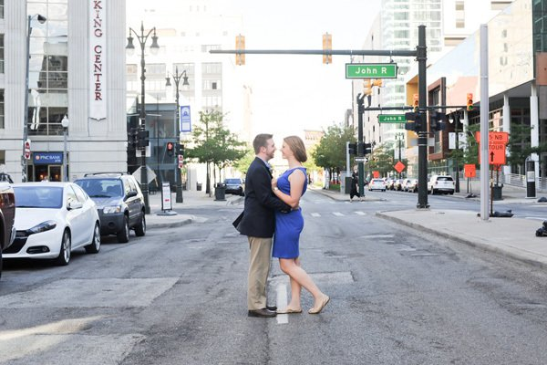 Liz & Eric's Sweet Detroit, MI Engagement Session by JD Howell Photography