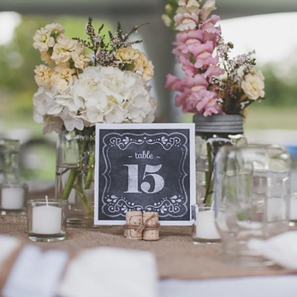 chalkboard table number