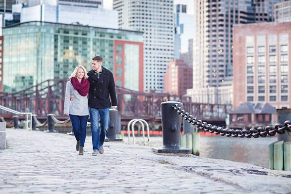 Sarah & Bobby's Adorable Boston, MA Engagement Session by Lovely Valentine Photography