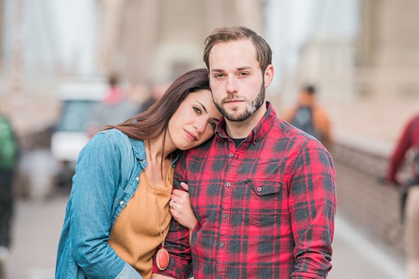 Janis & Jesse's Cool NYC Engagement Session by AMC Photography