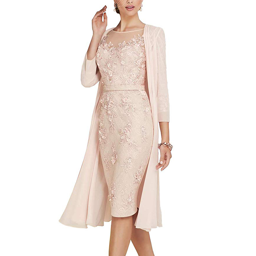 New Deve Lace Mother Of The Bride Dress