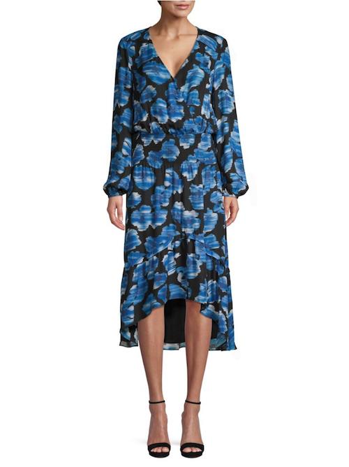 Parker Elizabeth Silk Blend Floral Blouson Dress
