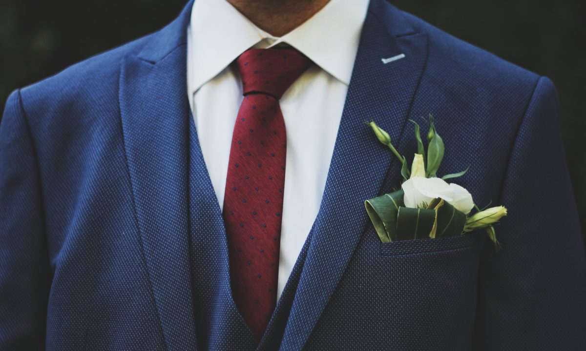 10 Grooms Who Rocked a Blue Suit