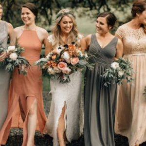 Mismatched Winter Bridesmaid Dresses That Inspire