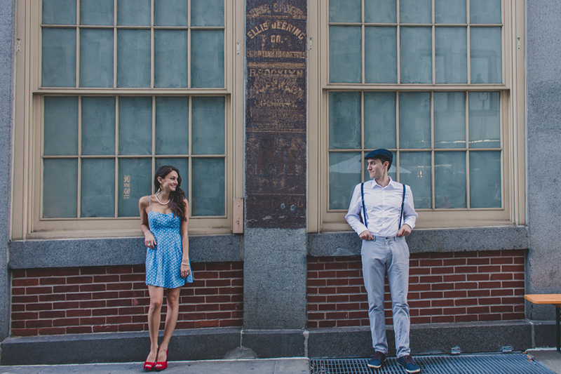 Alyssa & Nick's Vintage NYC Engagement Session by Forever Photography