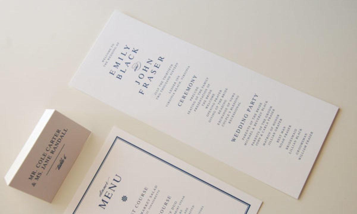 10 Best Wedding Program Ideas
