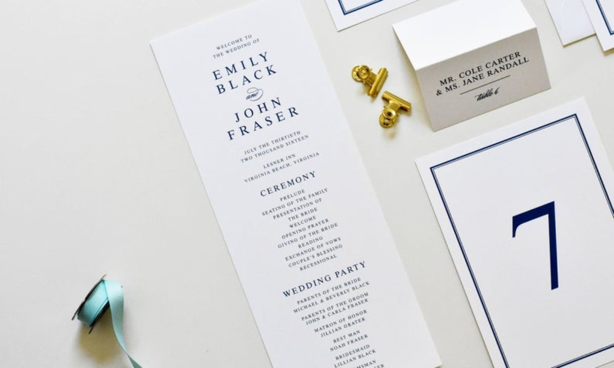 10 Simple Wedding Programs for No-Fuss Info