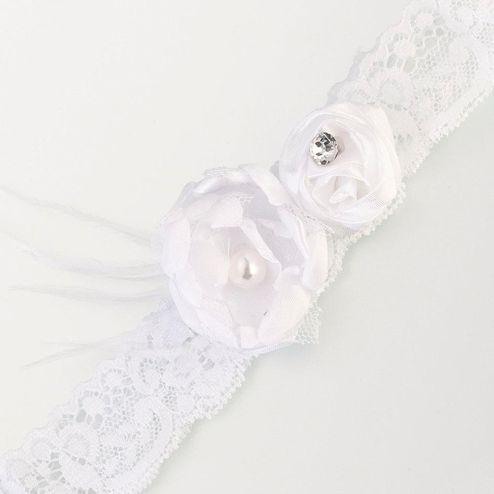 Vintage White Lace Garter