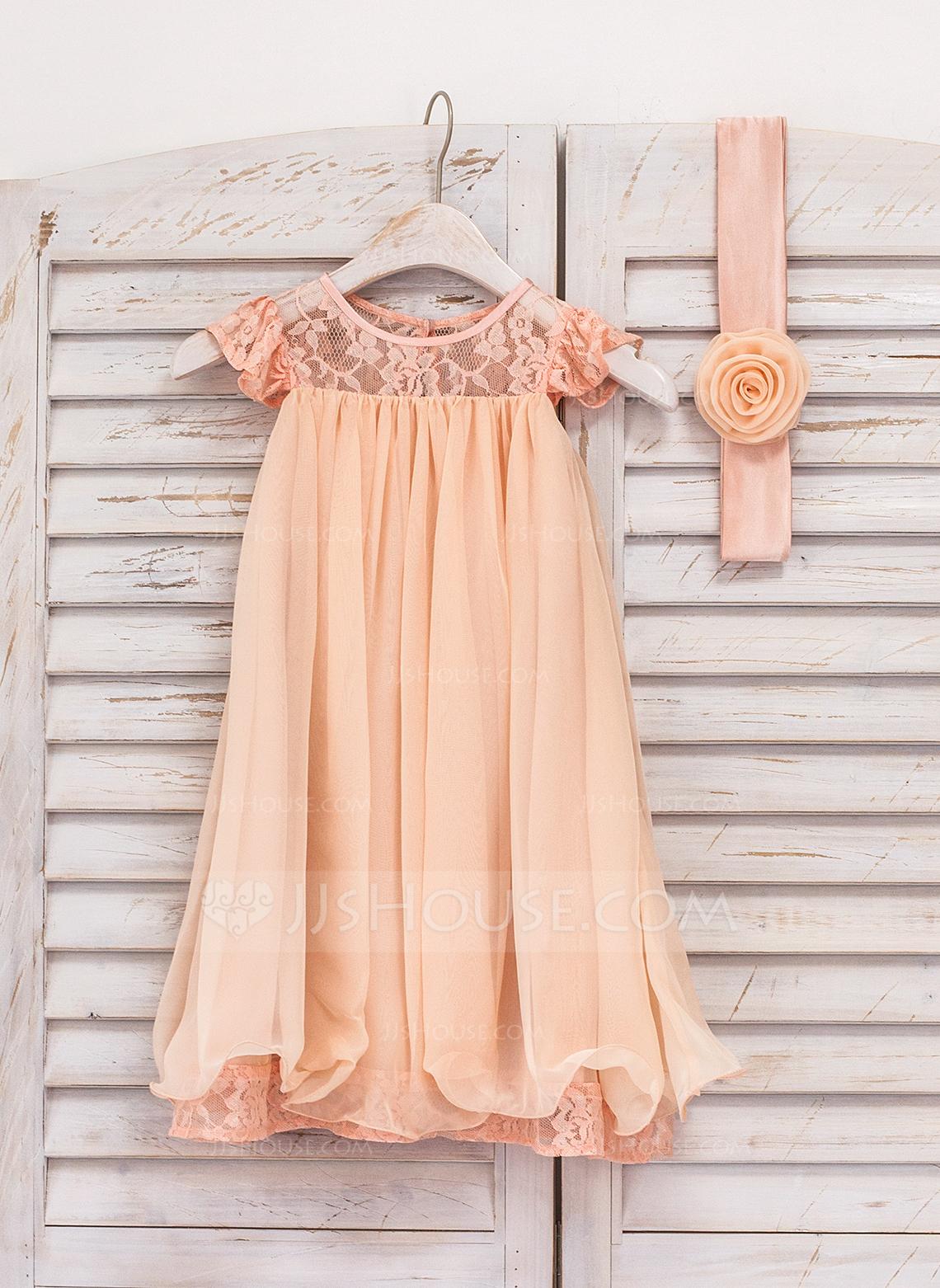 Knee-length Flower Girl Dress