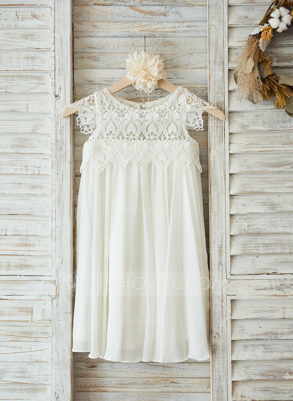 Empire Knee-length Flower Girl Dress