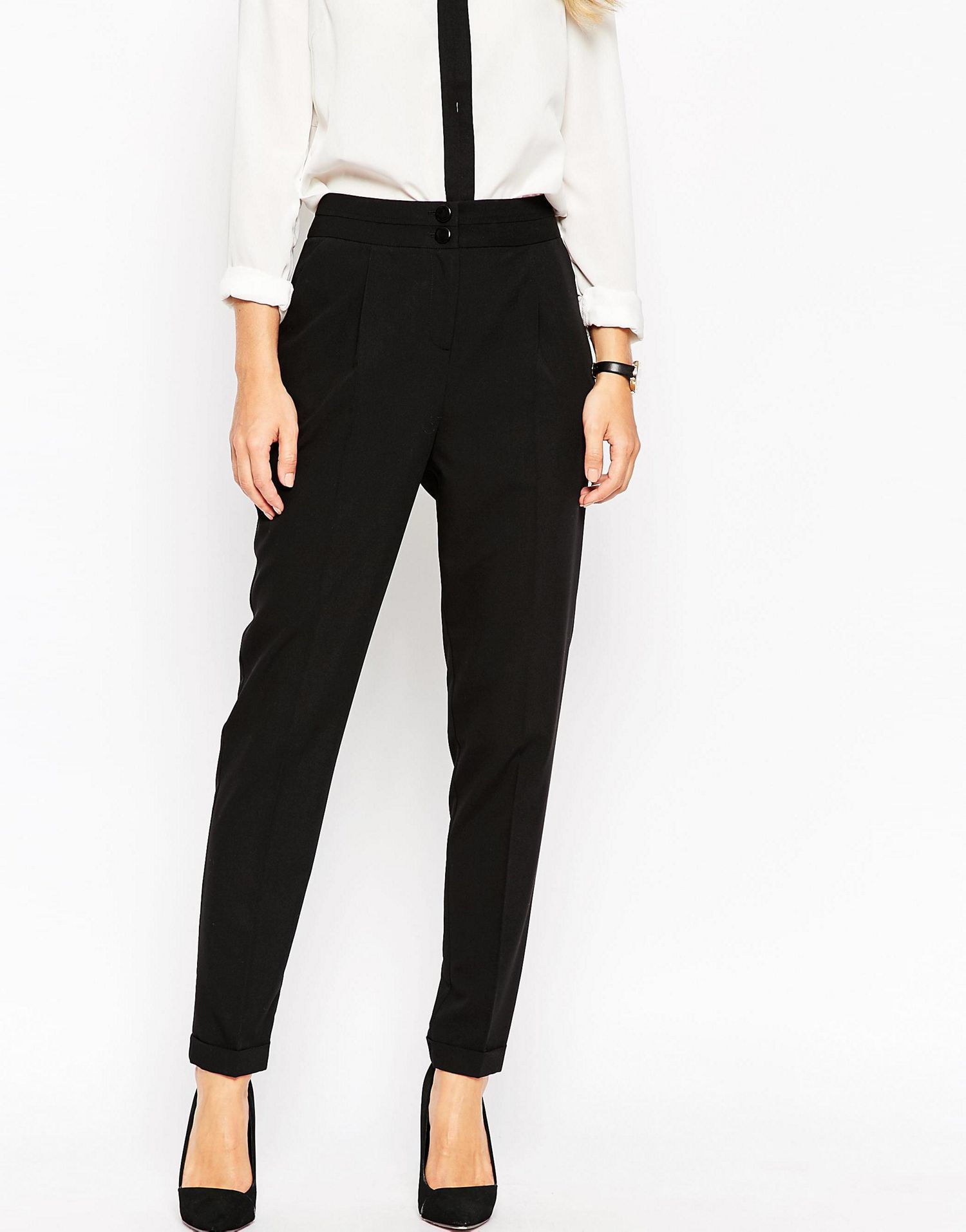 Tailored High Waist Pants