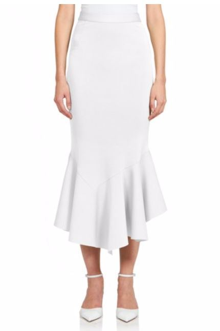 Givenchy Crepe Jersey Ruffle Midi Skirt