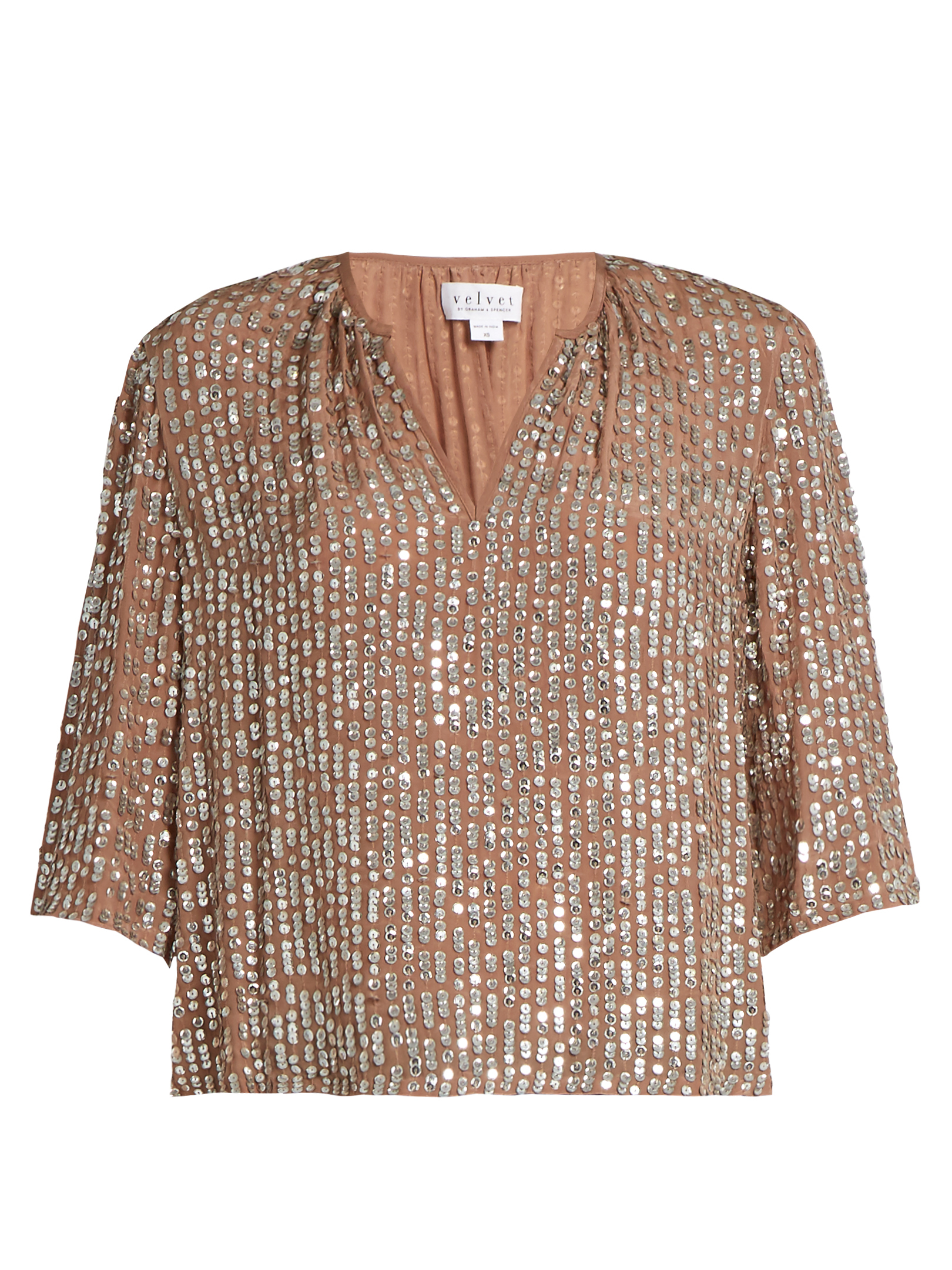Wenn Embellished V-neck Top