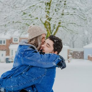 Wintry Outfits for Your Engagement Session