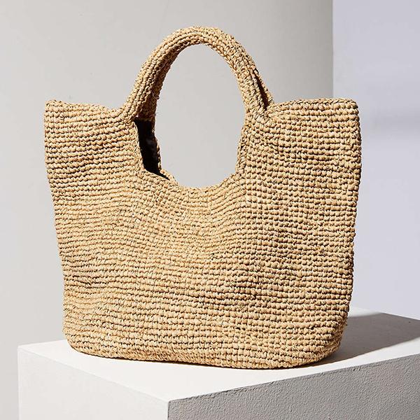 Ecote Raffia Tote Bag
