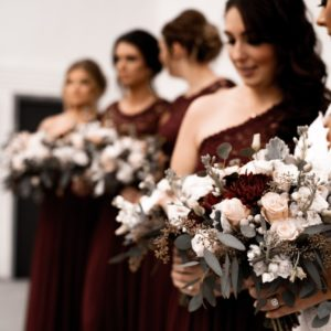 Mismatched Jewel Tone Bridesmaid Dresses for Your 'Maids