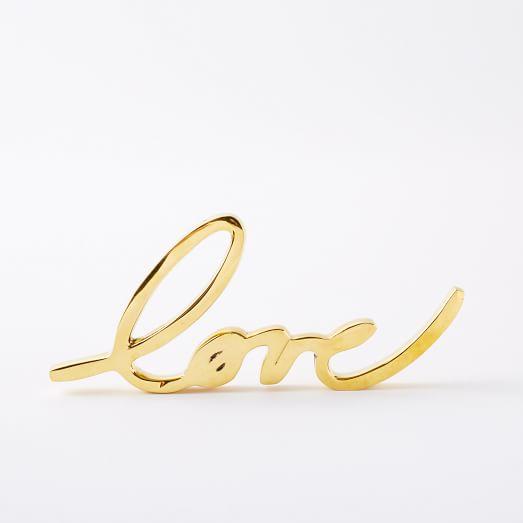 West Elm 'Love' Sign