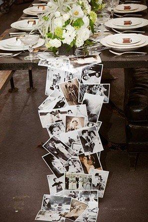 photos table runner