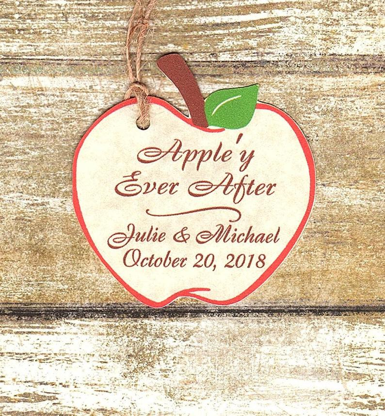 Annies Impressions Apple'y Ever After Wedding Favor Tags