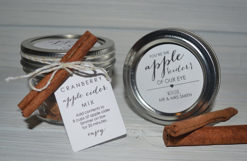 One 19 Stationery Apple Cider Favors