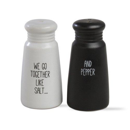 Tag Ltd We Go Together Salt & Pepper Shaker Set