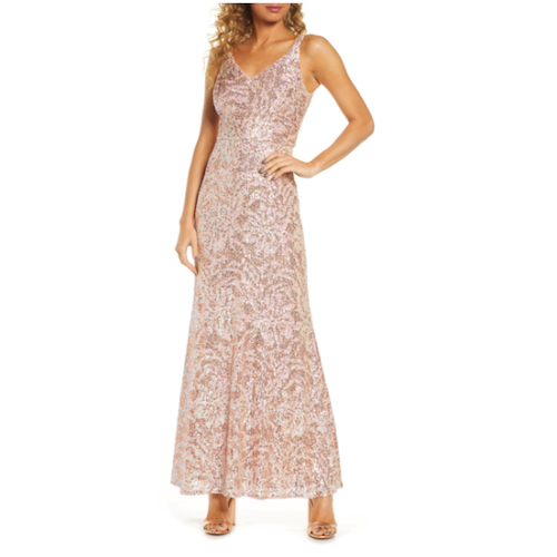 Morgan & Co. Sequin Gown