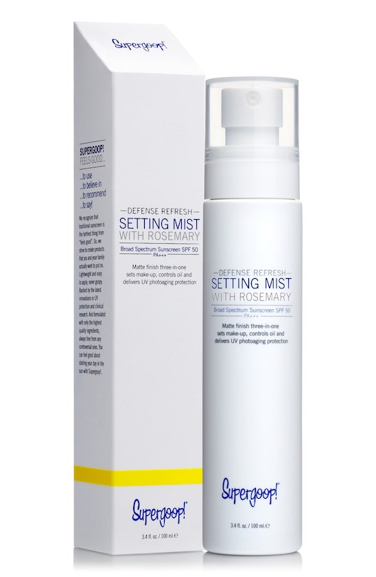 Supergoop! Defense Refresh Setting Mist with Rosemary SPF 50